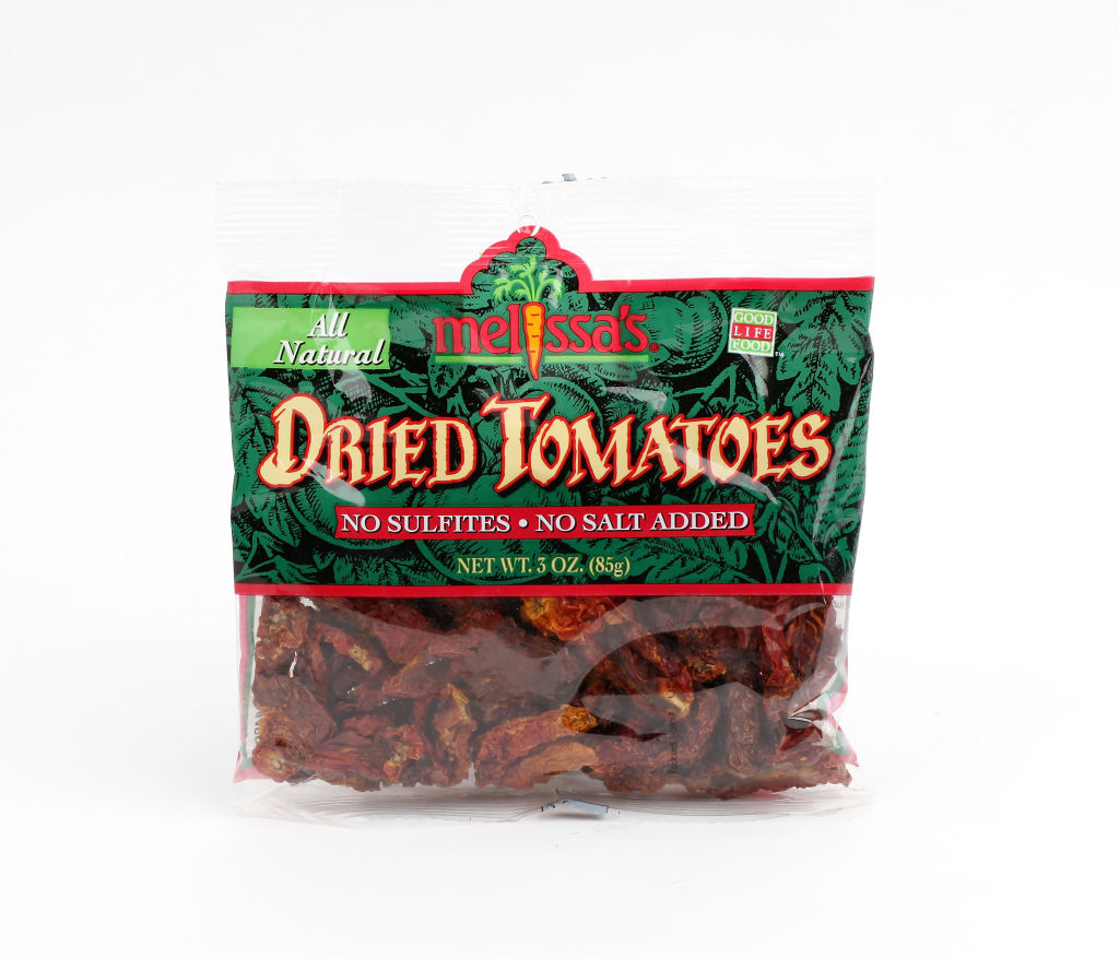 a bag of sundried tomatoes