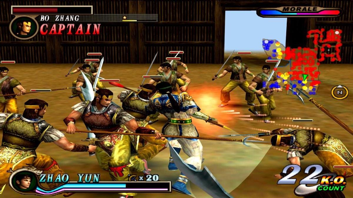 Dynasty Warriors 2, first crowd-combat game on the PS2