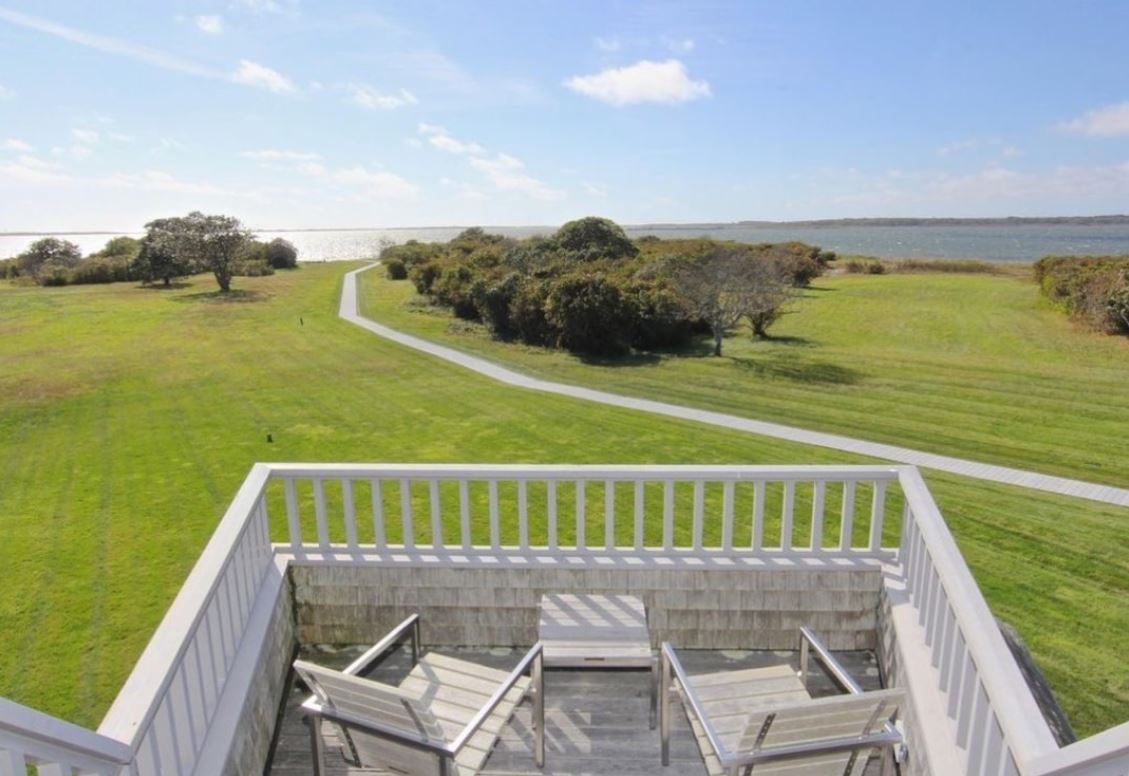 A view from one of the estate's many second floor balconies