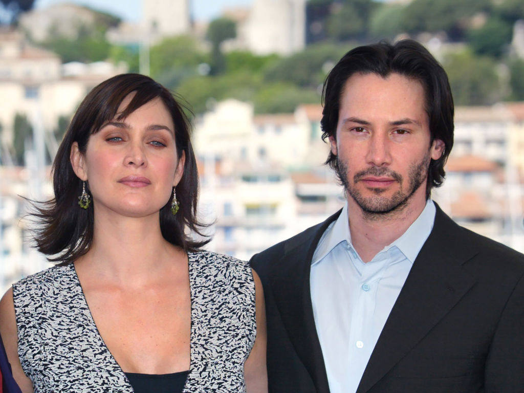 Keanu Reeves and Canadian-born actress Carrie-Anne Moss