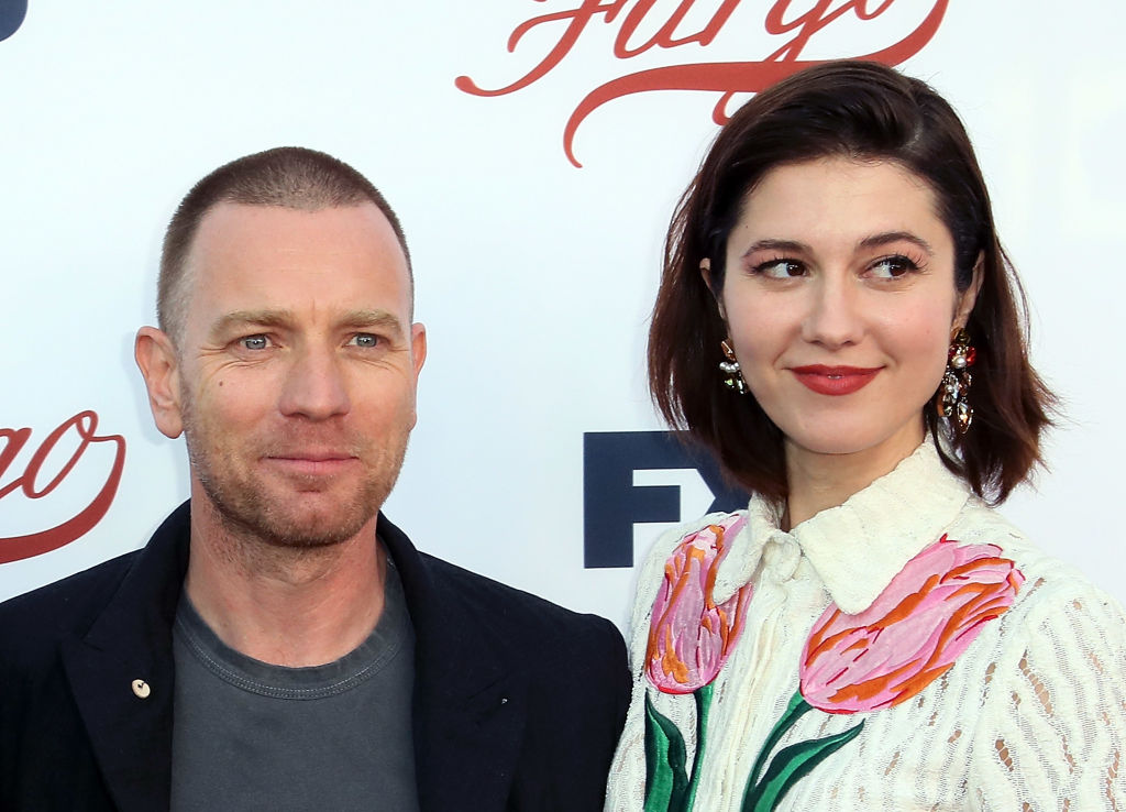 Ewan McGregor and Mary Elizabeth Winstead pose together at a Fargo event in Hollywood.
