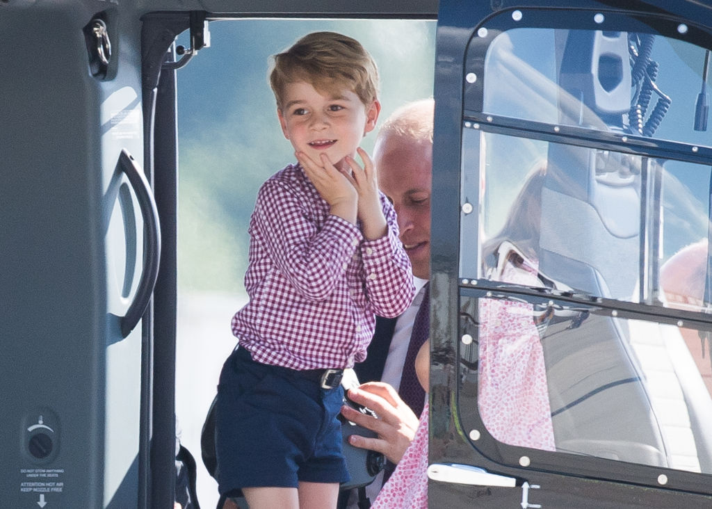 Prince george in shorts