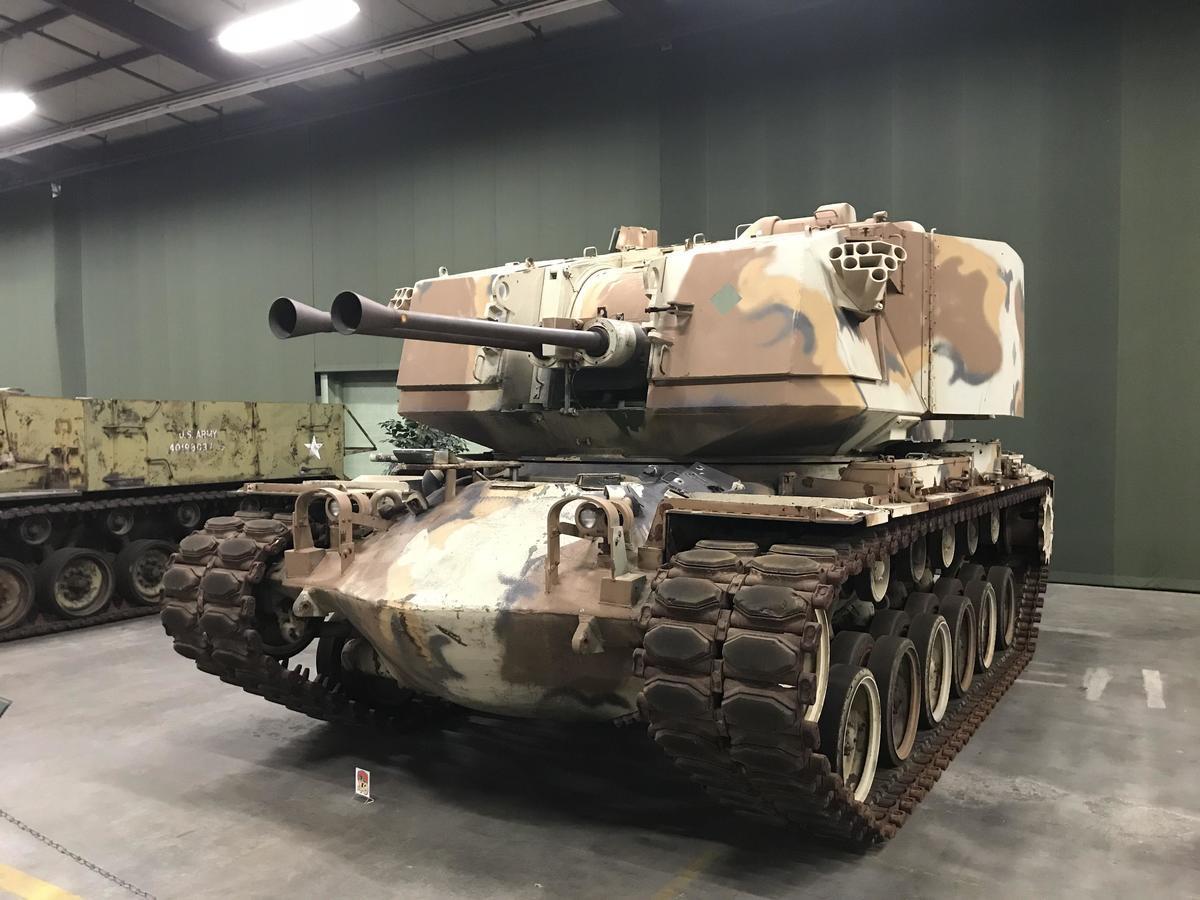 The M247 Sergeant York in the AAF tank museum in Danville, Virginia