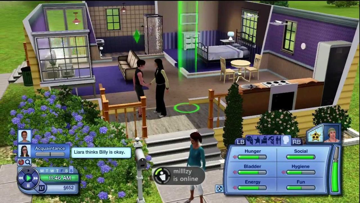 Character gameplay from Sims 3