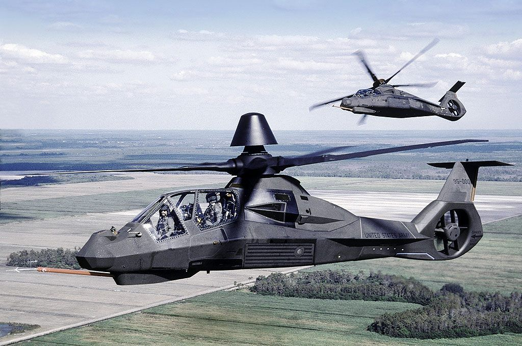 Two Boeing-Sikorsky RAH-66 Comanches flying