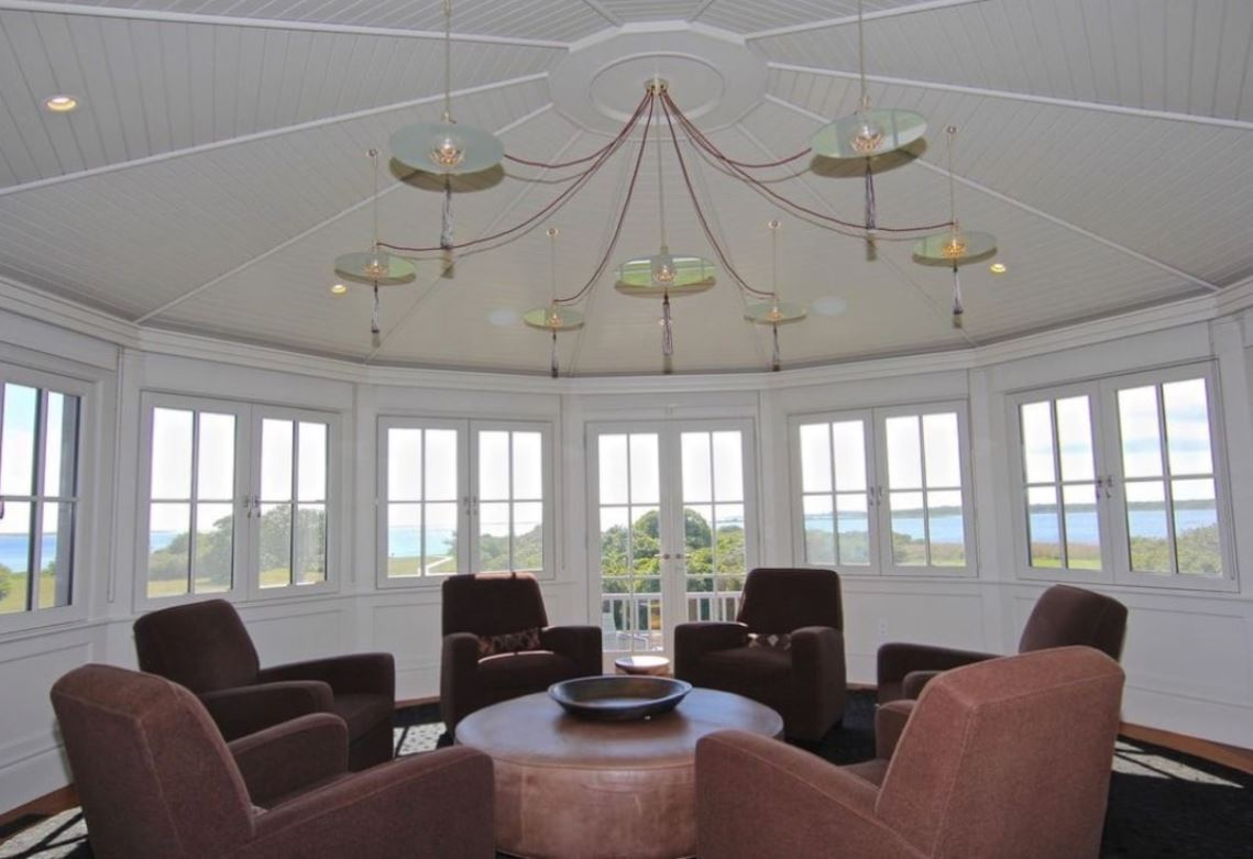 A sitting room on the second story in the Edgartown estate