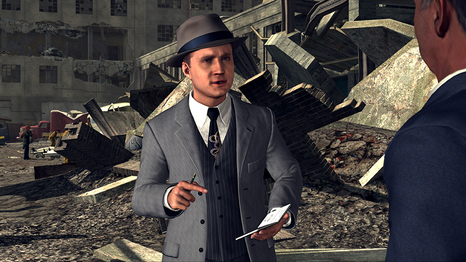 screenshot of a cut scene in the game L.A. Noire