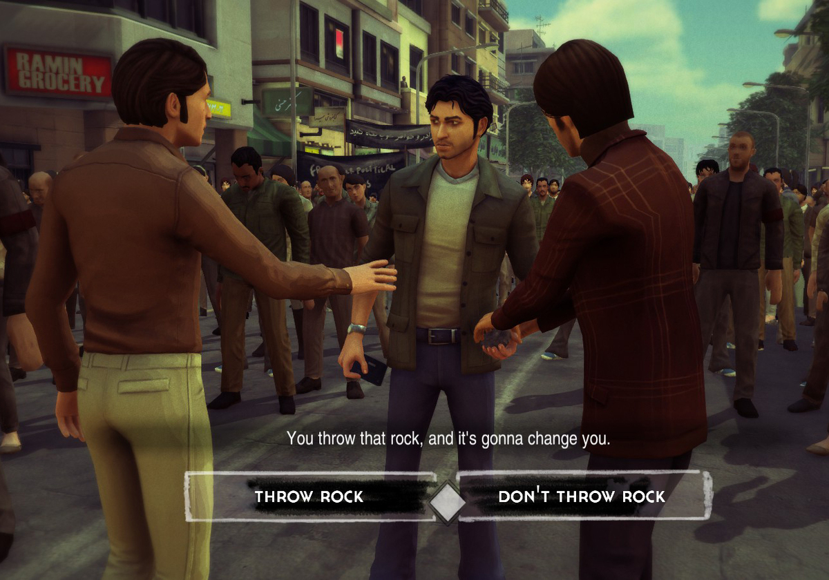 Player is presented with a choice in the game 1979 Revolution: Black Friday