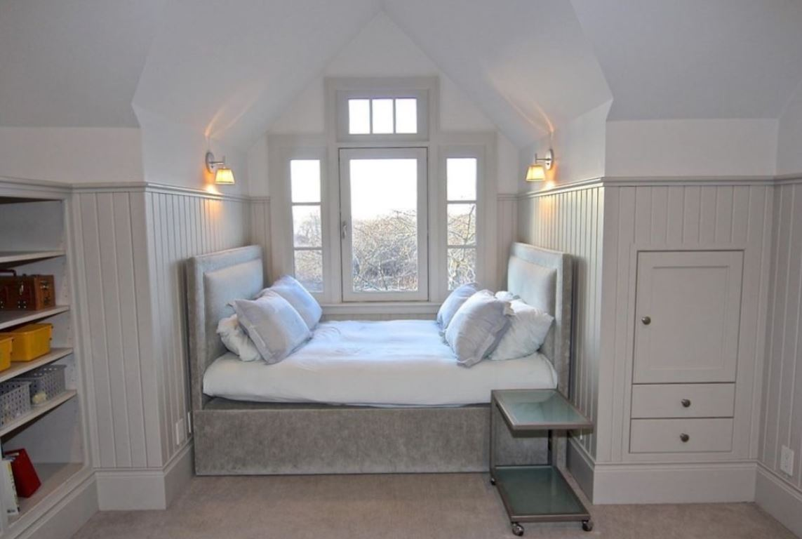 One of the seven bedrooms in the Edgartown estate