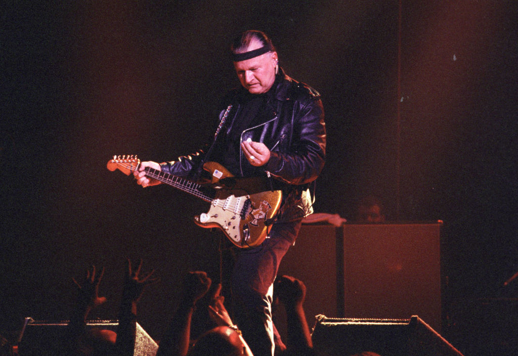 Dick Dale playing the guitar