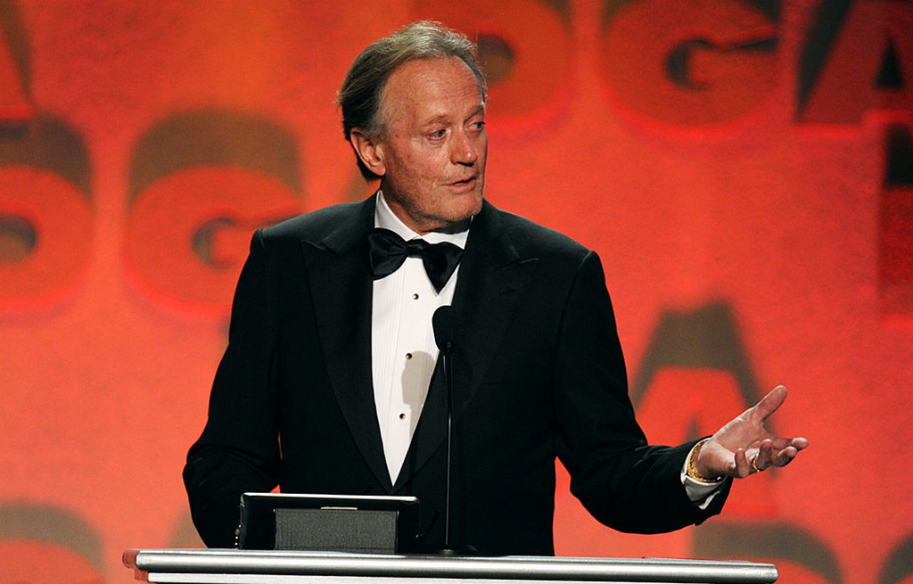 Peter Fonda giving a speech
