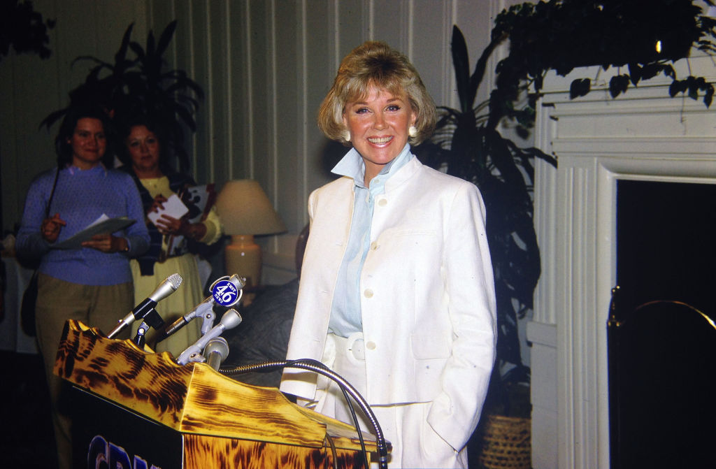Doris Day at a podium