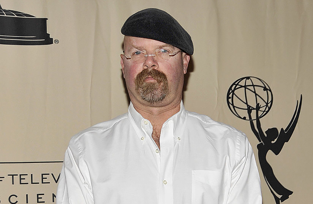 Hyneman at a conference