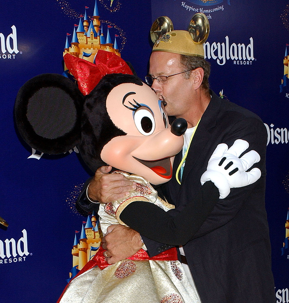 Kelsey Grammer with Minnie Mouse during Disneyland 50th Anniversary