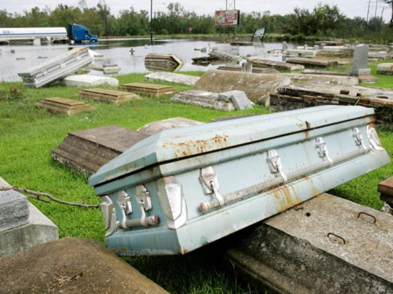 Graveyard of coffins