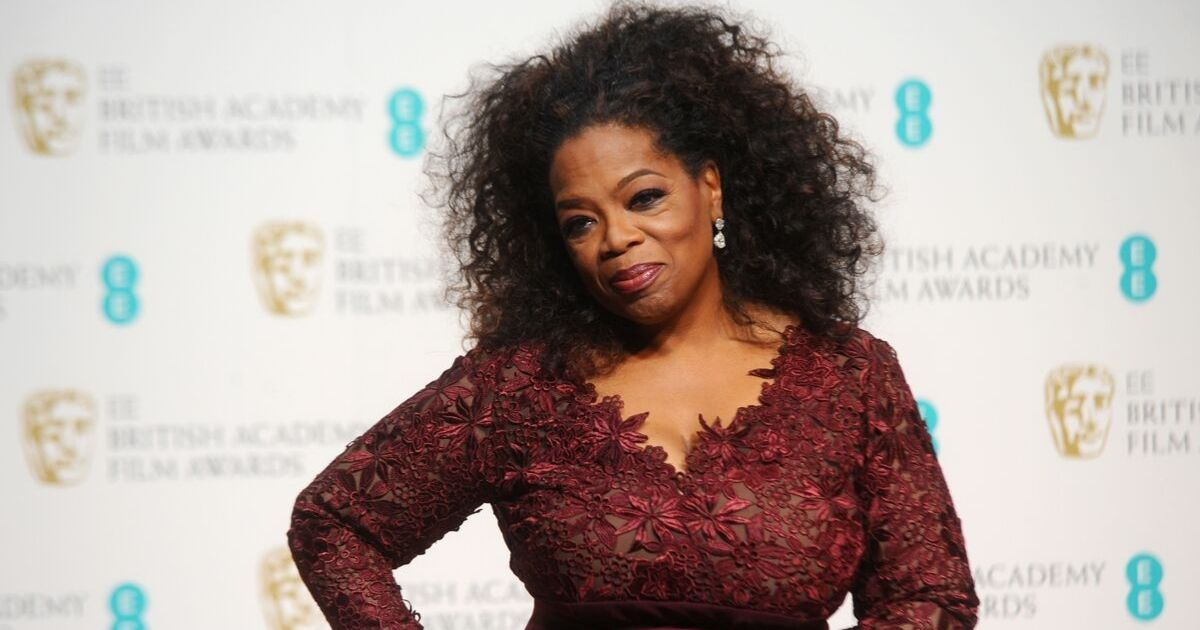 Oprah Winfrey poses in the winners room at the EE British Academy Film Awards 2014