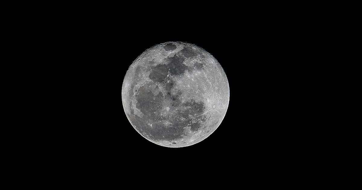 Picture of a full moon over Panama City