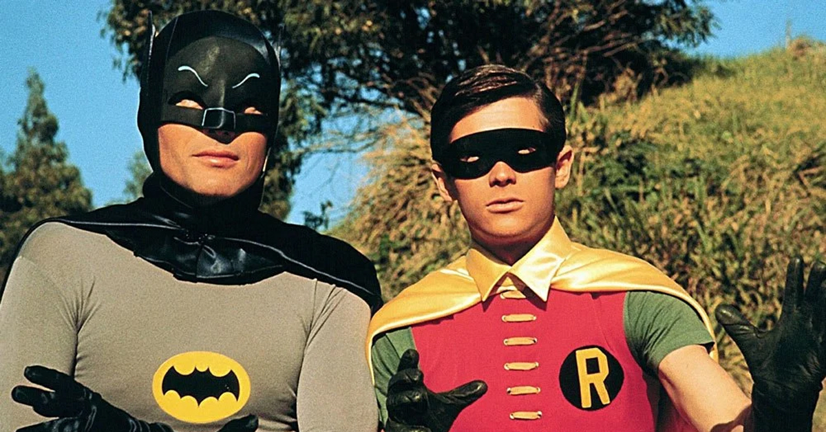 batman and robin in their costumes for their TV series