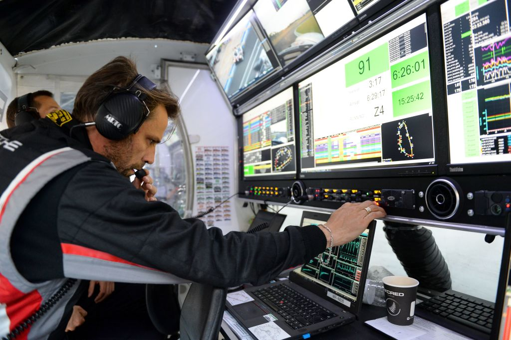A Member Of Air Traffic Control Talks Into His Headset