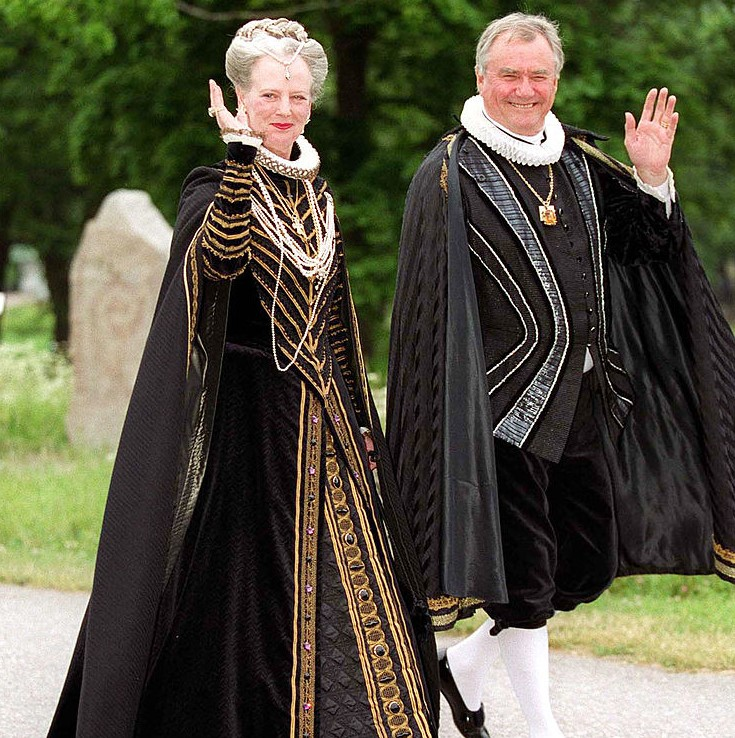 Queen Margareta And Prince Henrik In Their Renaissance Costumes
