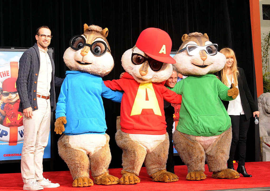 Lee and the chipmunks in costume