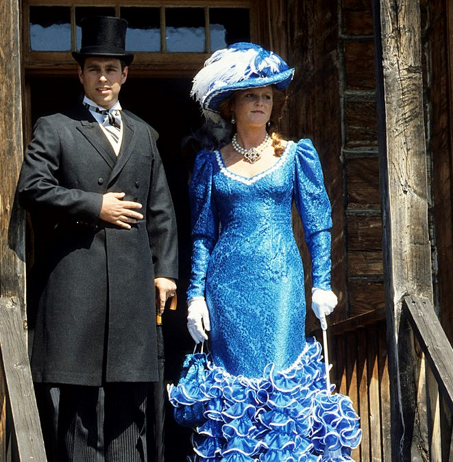 Prince Andrew, Duke of York and Sarah Duchess of York in Klondike Costumes