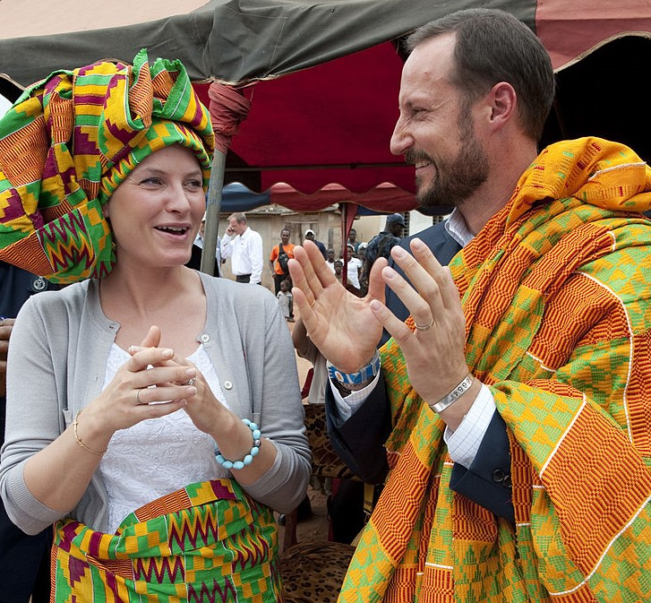 Crown Prince Haakon and Crown Princess Mette-Marit Are Colorful In Ghana