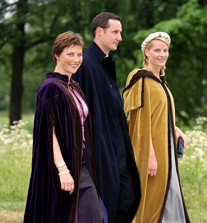 Crown Prince Haakon, Crown Princess Mette-Marit and Princess Martha Louise Of Norway (A.K.A. Three Witches)