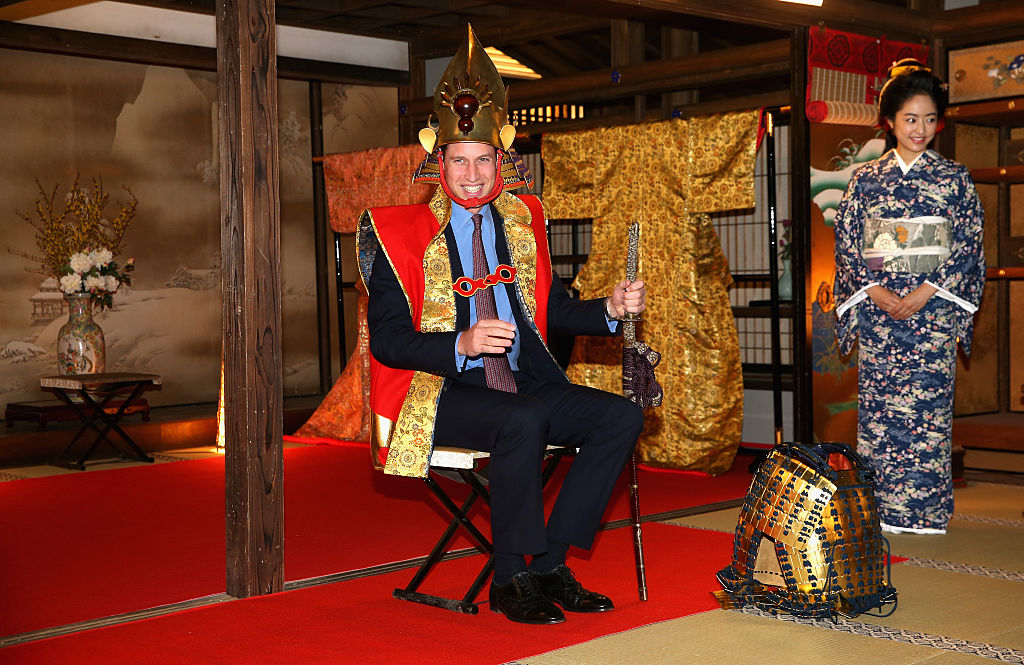 Prince William In Traditional Emperor Of Japan Costume
