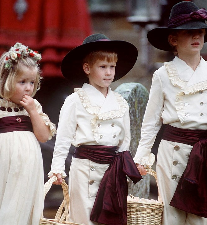 Prince Harry Dressed As An Edwardian-Style Pageboy