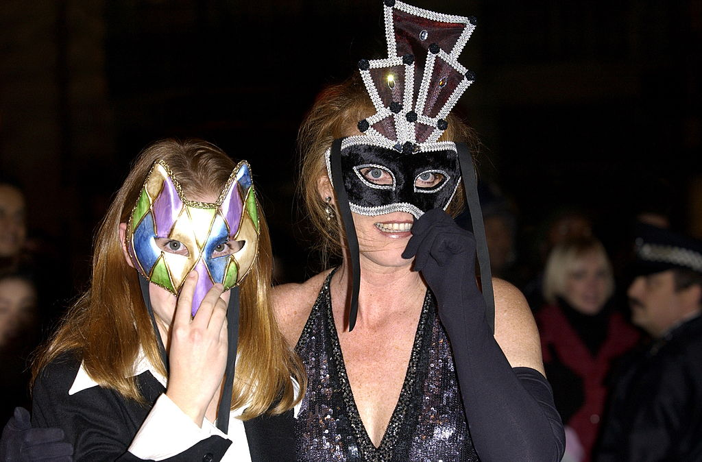 Sarah, Duchess Of York And Princess Beatrice Masquerading
