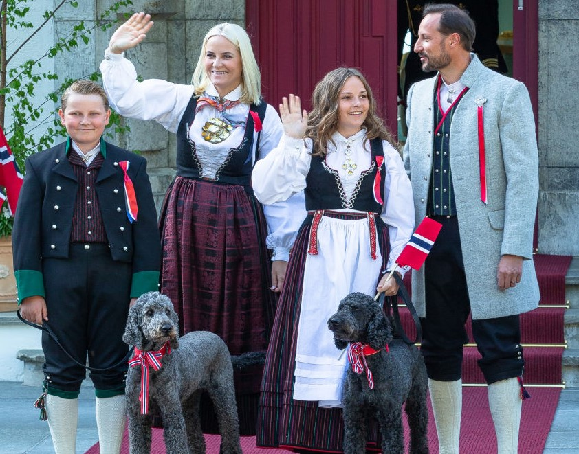 Norwegian Royal Family Is All Smiles During A Parade