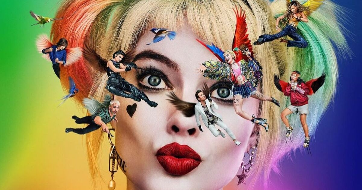Harley Quinn on the poster of Birds Of Prey