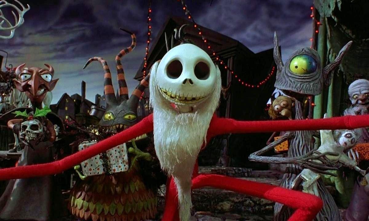 Jack Dressed As Santa In Halloweentown