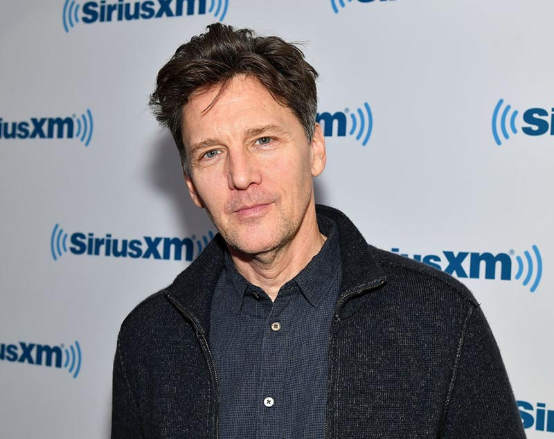 Andrew McCarthy has a five-o-clock shadow and barely graying hair.