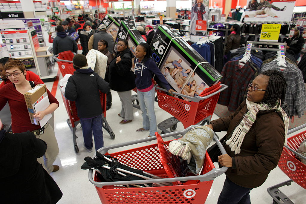 Shoppers fill a Target Store on Black Friday in Chicago
