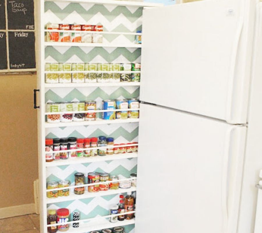 small shelf to go between fridge