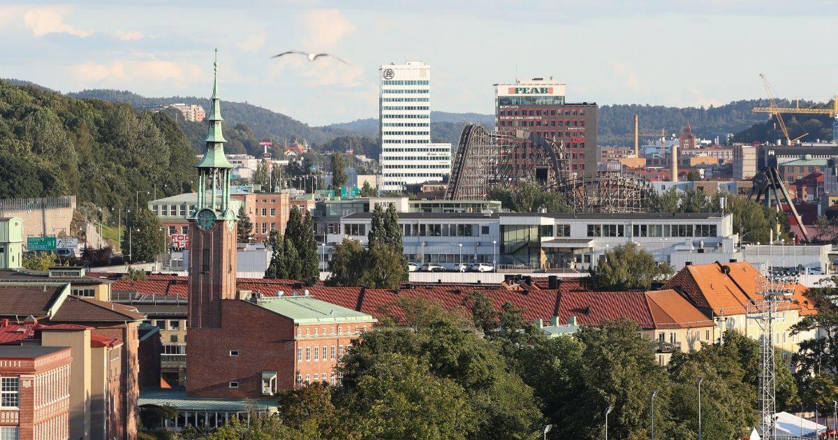 Picture of the Liseberg amusement park taken in Goteborg, Sweden, 22 August 2017