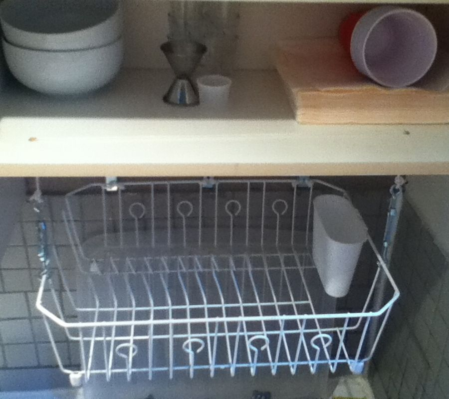 drying rack over the sink