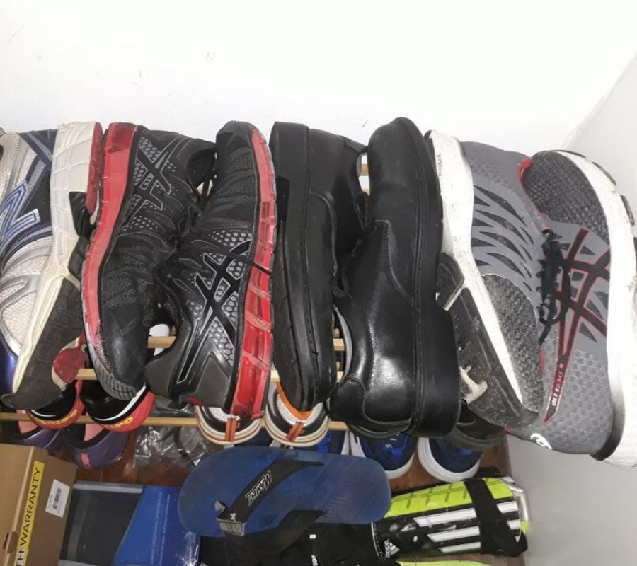 stacking shoes back to front