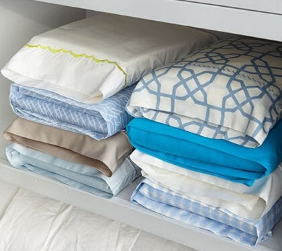 bedsheets inside pillow cases