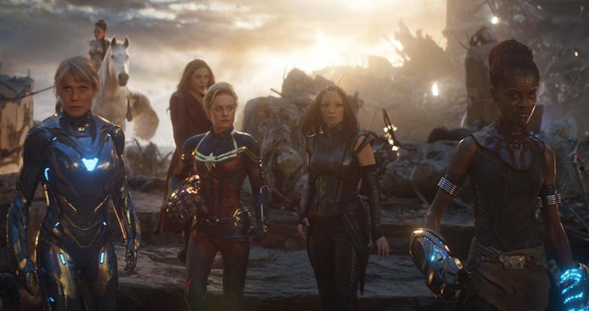 Gwyneth Paltrow, Brie Larson, Elizabeth Olsen, Tessa Thompson, Pom Klementieff, and Letitia Wright in Avengers: Endgame (2019)