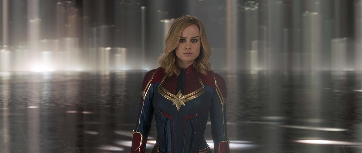 brie larson in her captain marvel costume