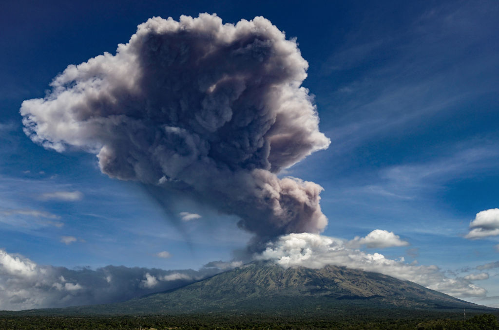 Picture of Mount Agung in Indonesia