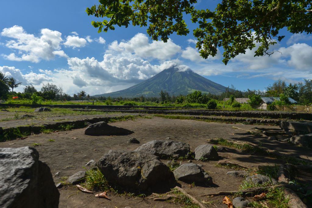 Mount Mayon in Indonesia