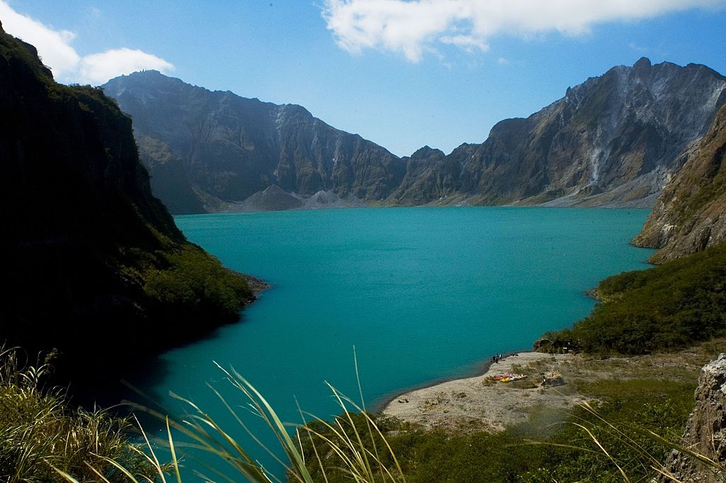Picture of Mount Pinatubo in the Philippines