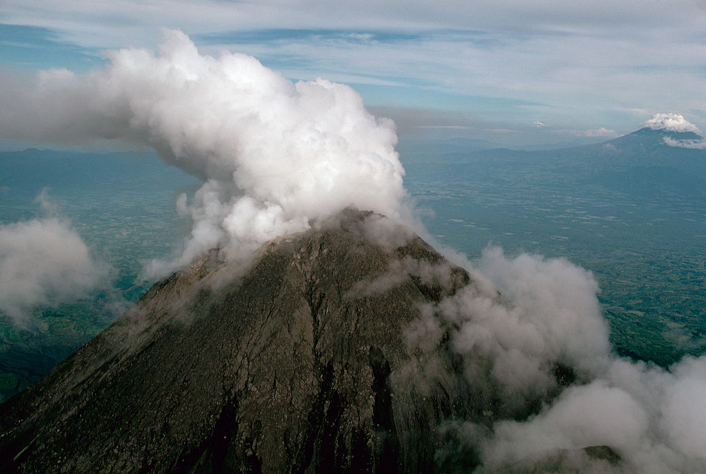 Picture of Mount Merapi in Indonesia