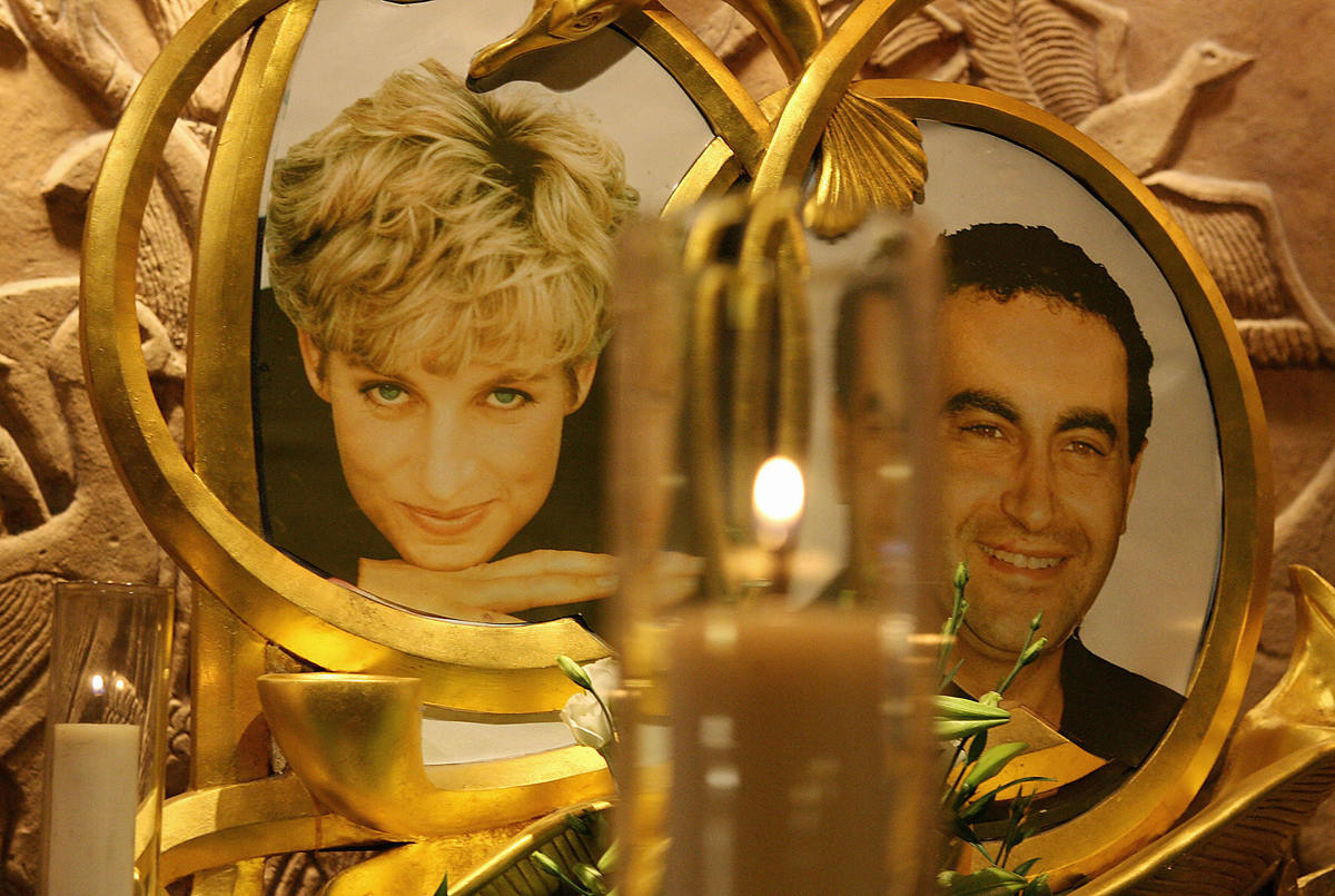 A permanent memorial to Diana, Princess of Wales and Dodi al-Fayed is pictured in the Harrods store in London.