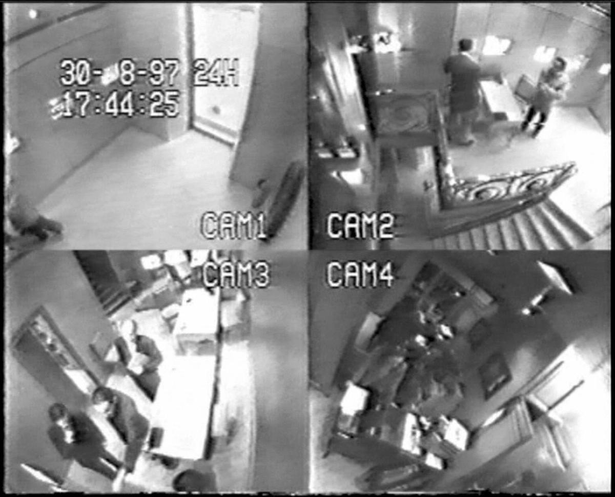 Paris, FRANCE: Surveillance cameras show French jeweller Repossi arriving to buy an engagement ring for Diana, Princess of Wales.