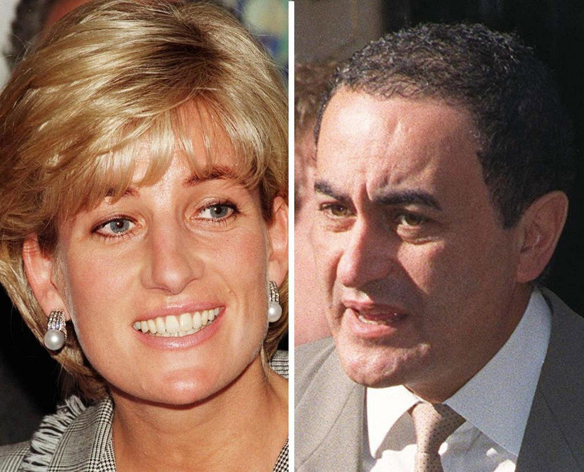 Diana Princess of Wales (left) and Dodi Fayed (right).